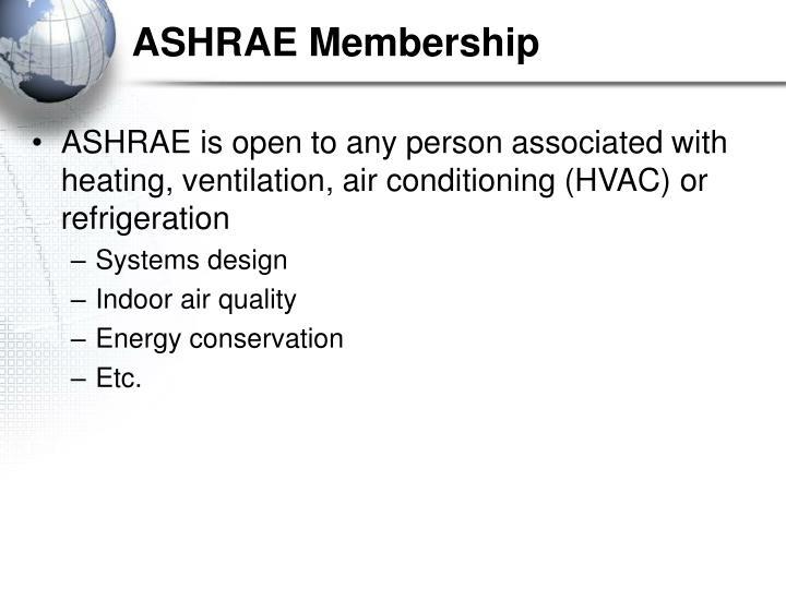 ASHRAE Membership
