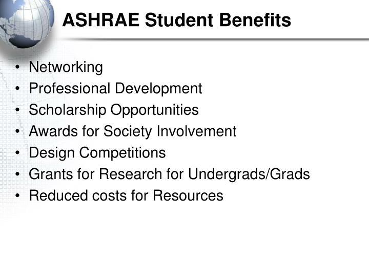 ASHRAE Student Benefits