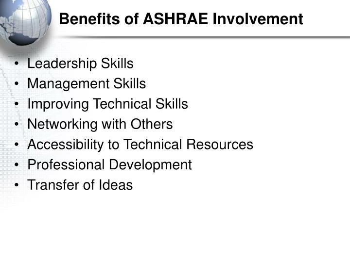 Benefits of ASHRAE Involvement