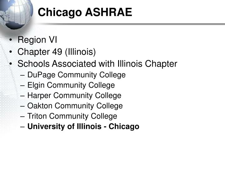 Chicago ASHRAE