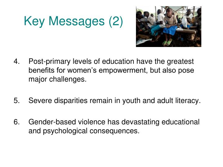 Key Messages (2)