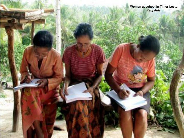 Women at school in Timor Leste