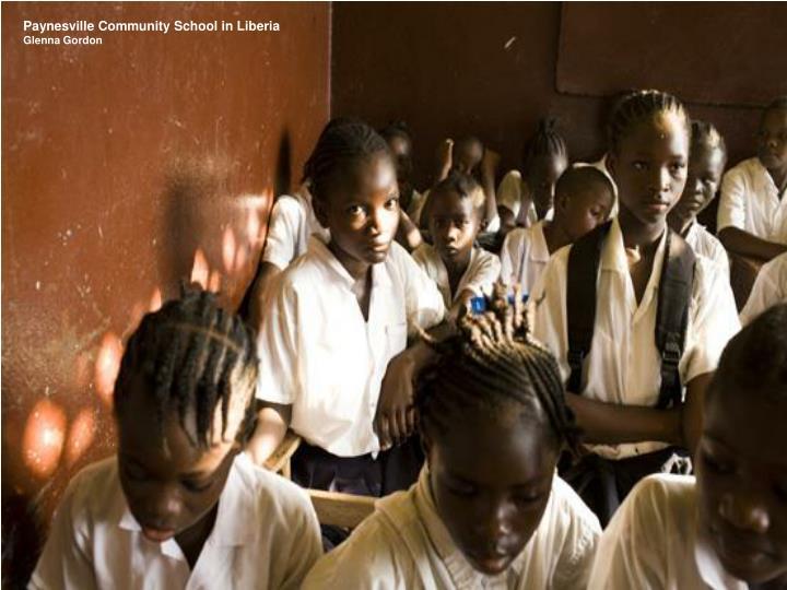 Paynesville Community School in Liberia