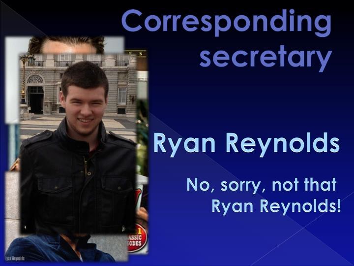 Corresponding secretary