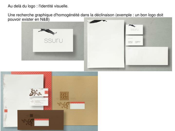 Au delà du logo : l'identité visuelle.
