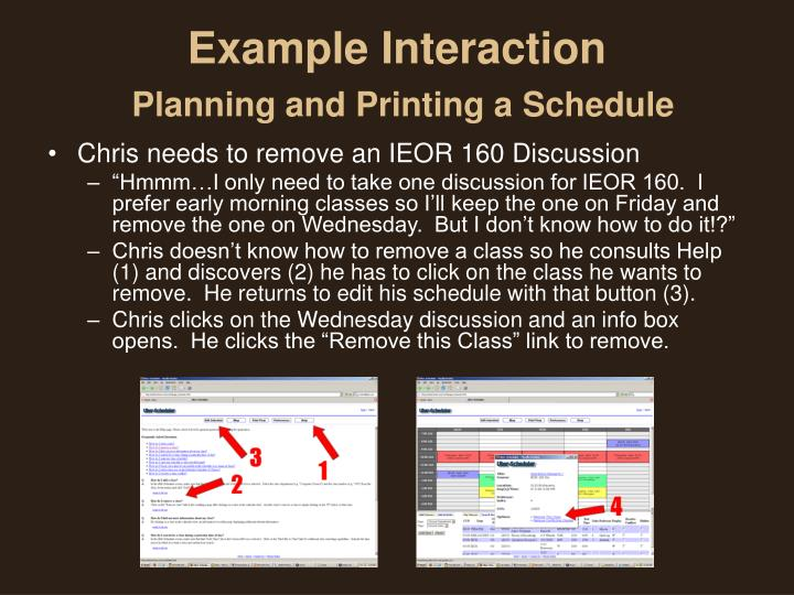 Example Interaction