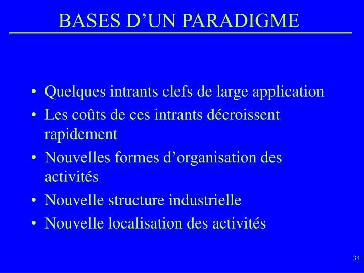 BASES D'UN PARADIGME