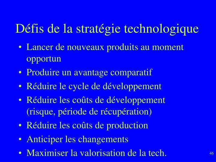 Défis de la stratégie technologique
