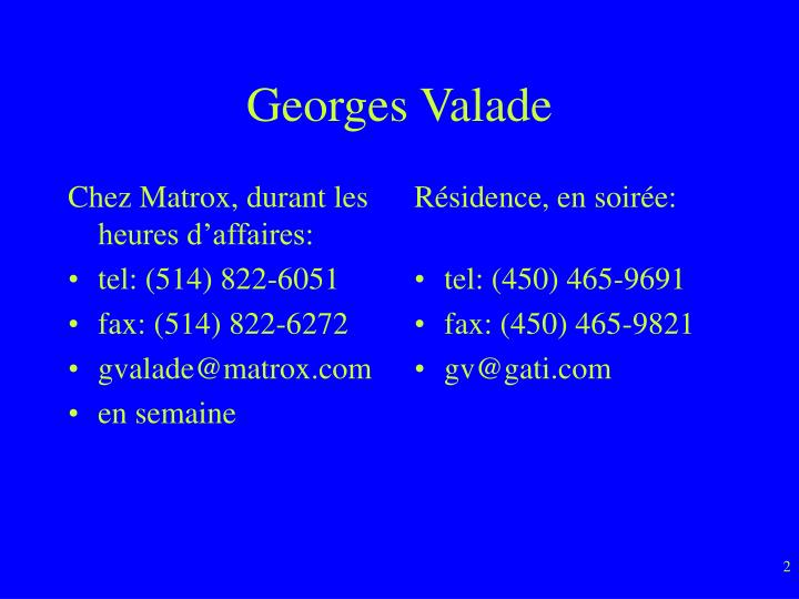 Georges valade