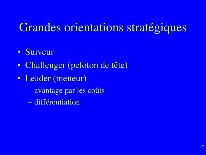 Grandes orientations stratégiques