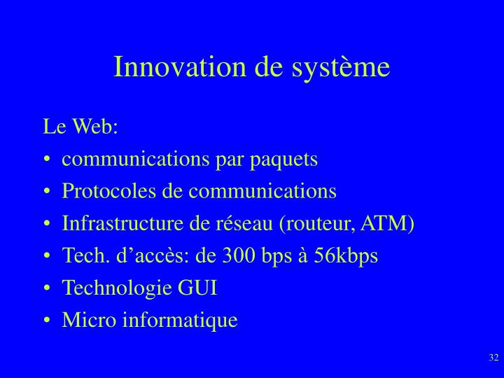 Innovation de système