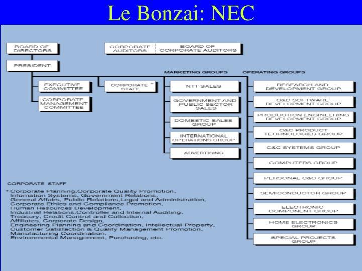 Le Bonzai: NEC