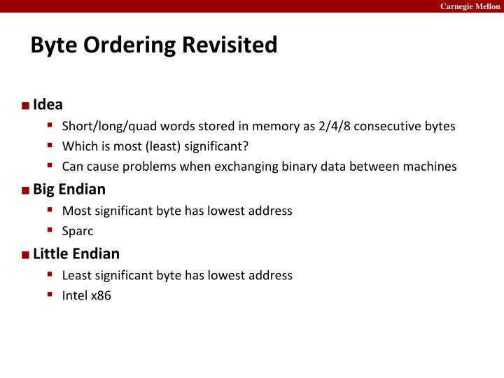 Byte Ordering Revisited