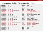 protected buffer disassembly