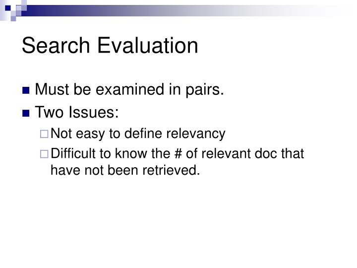 Search Evaluation