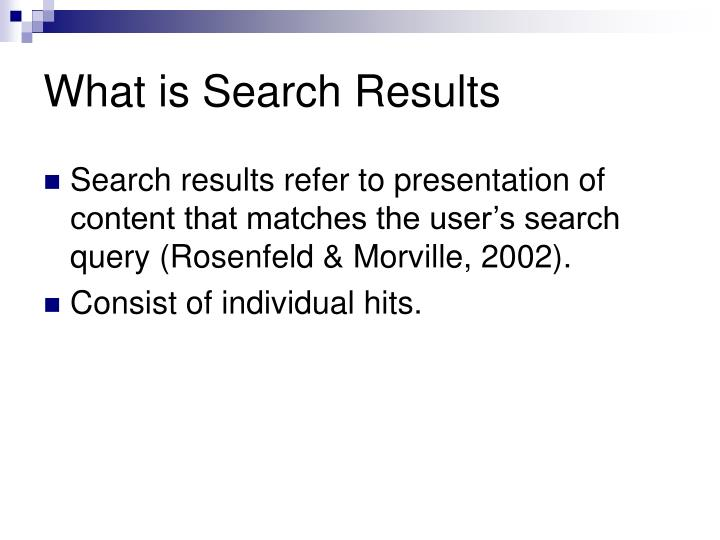 What is Search Results