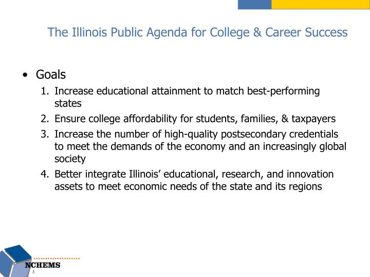 The illinois public agenda for college career success