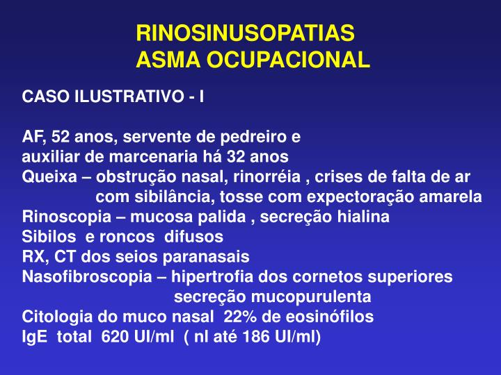 RINOSINUSOPATIAS