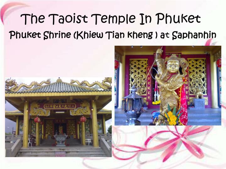 The Taoist Temple In Phuket