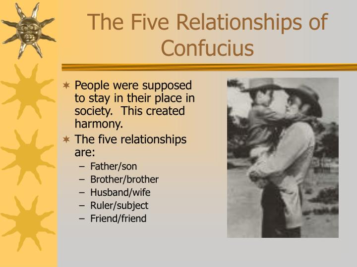 The Five Relationships of Confucius