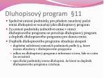 dluhopisov program 11