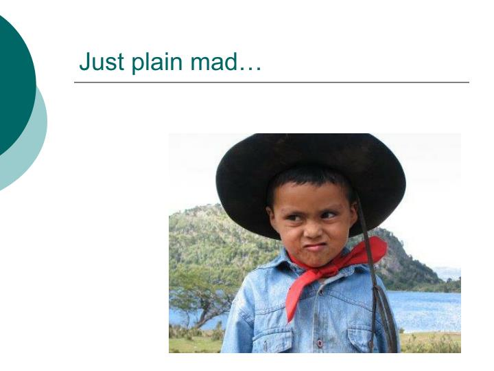 Just plain mad…