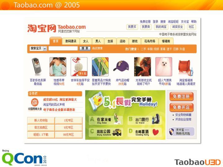 Taobao.com @ 2005