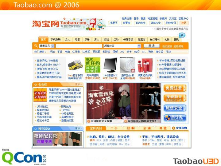 Taobao.com @ 2006