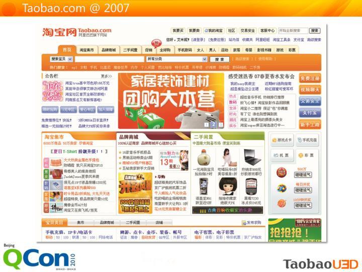 Taobao.com @ 2007