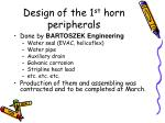 design of the 1 st horn peripherals
