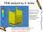 fem analysis by s koike