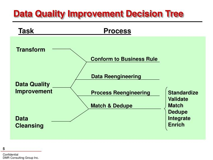 Data Quality Improvement Decision Tree