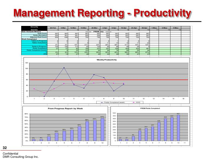 Management Reporting - Productivity