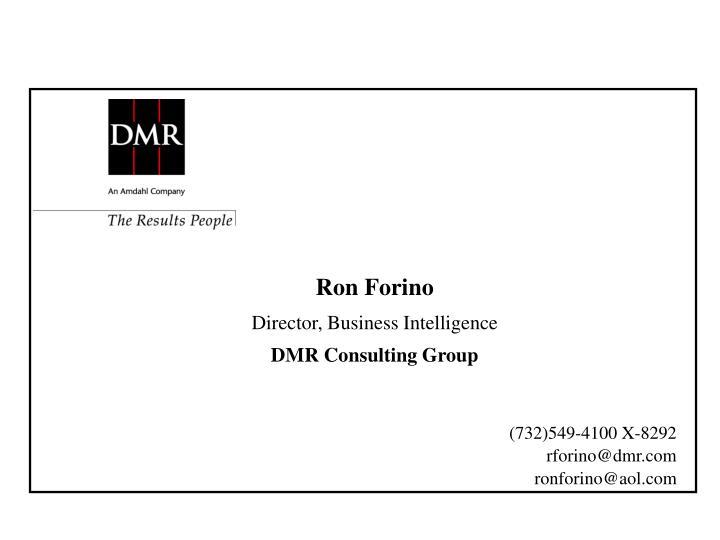 Ron Forino