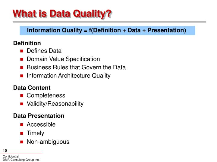 What is Data Quality?