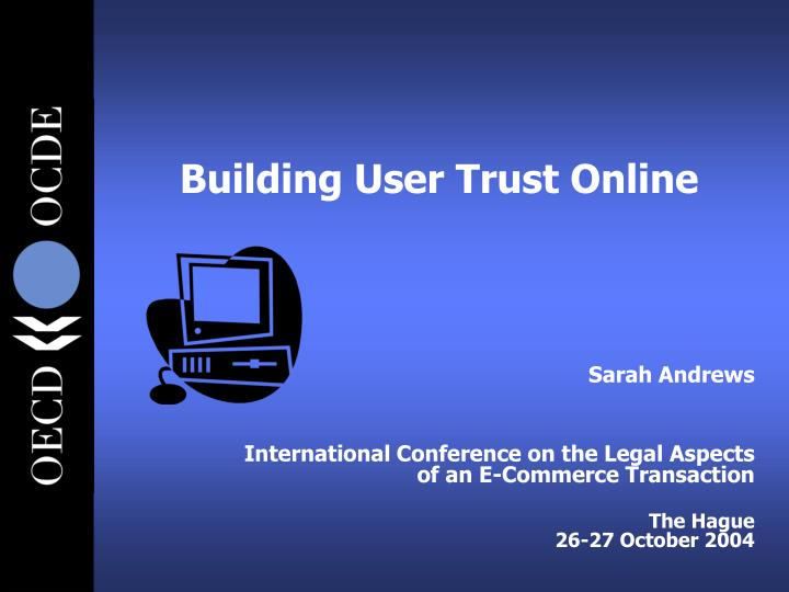 Building user trust online
