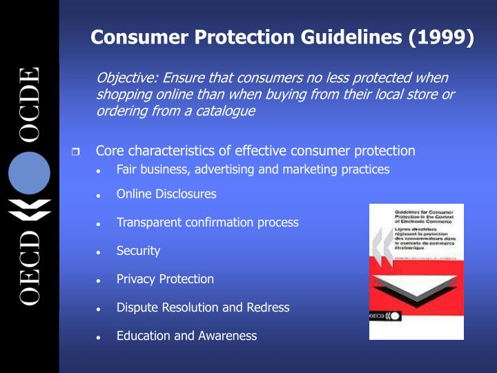 Consumer Protection Guidelines (1999)