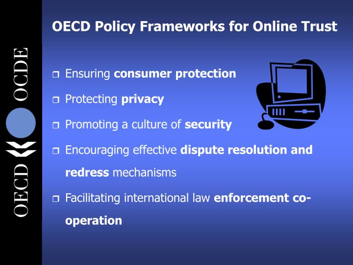 Oecd policy frameworks for online trust