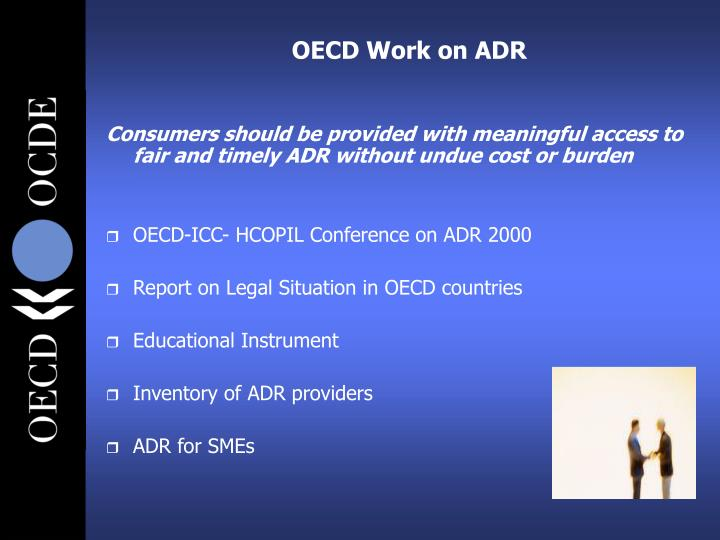 OECD Work on ADR