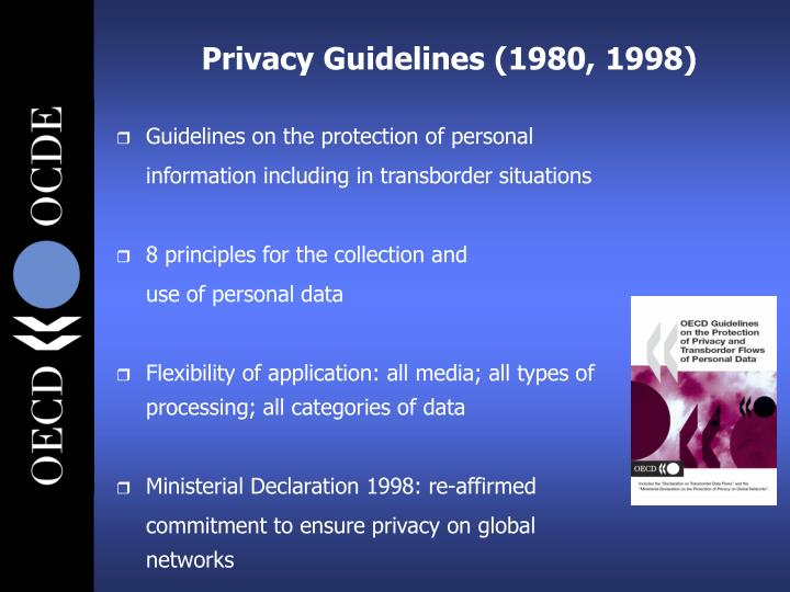 Privacy Guidelines (1980, 1998)