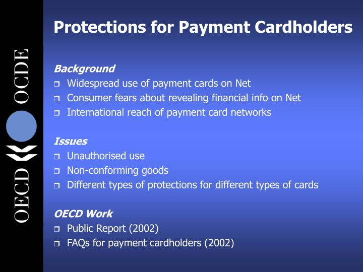 Protections for Payment Cardholders
