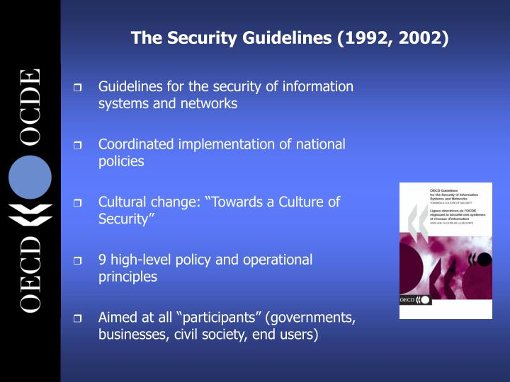 The Security Guidelines (1992, 2002)