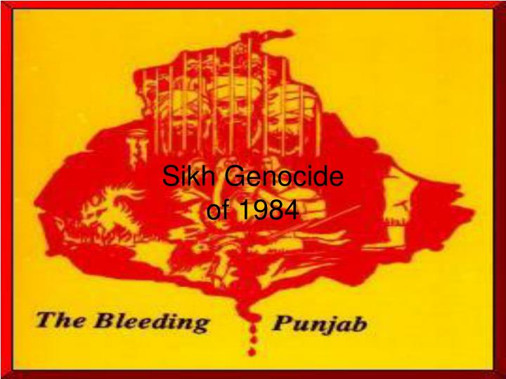 sikh genocide of 1984