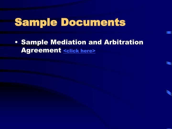 Sample Documents