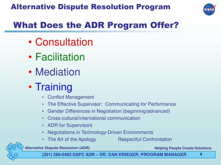 Alternative Dispute Resolution Program