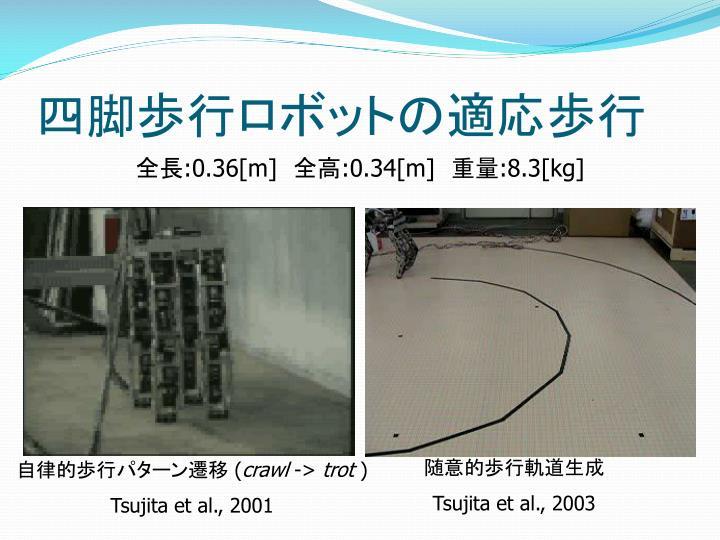 四脚歩行ロボットの適応歩行