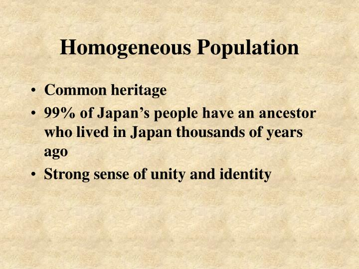 Homogeneous population