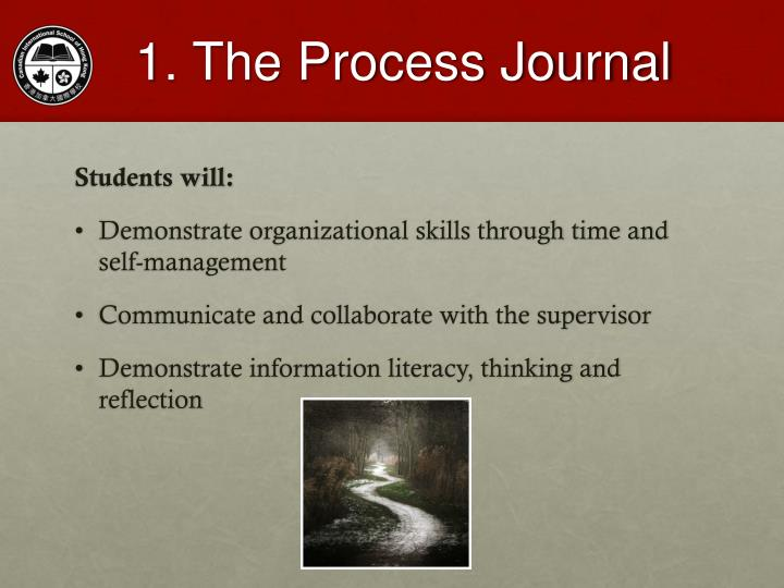 1. The Process Journal