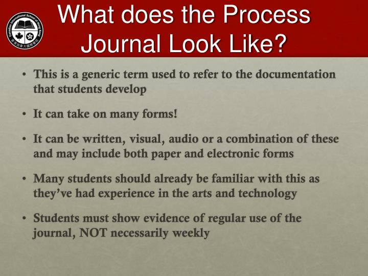 What does the Process Journal Look Like?