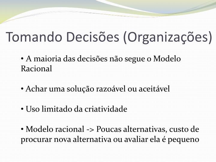 Tomando Decisões (Organizações)